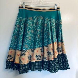 Free people boho layered skirt